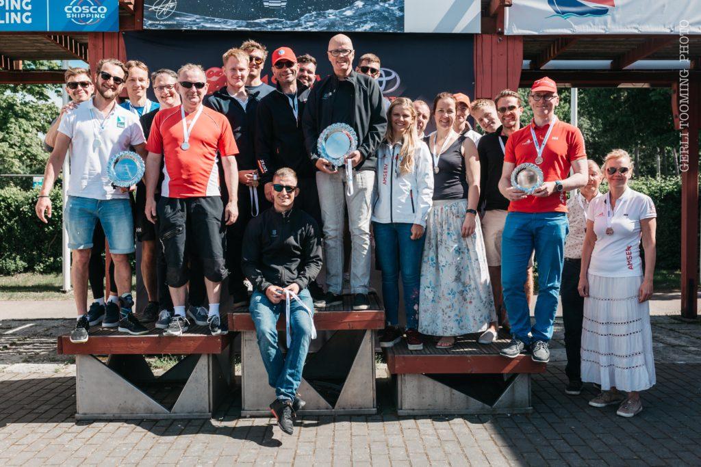 ORC II grupi poodiumimeeskonnad - Kalevi Jahtklubi Avamerepurjetamise Karikasarja SEIKO CUP 2020 - E4 Karikavõistlus FOTO: Gerli Tooming