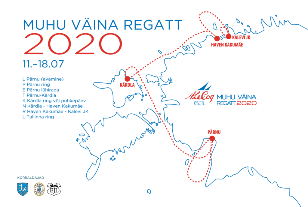 A. Le Coq 63. Muhu Väina regati distants - 11.-18. juuli 2020