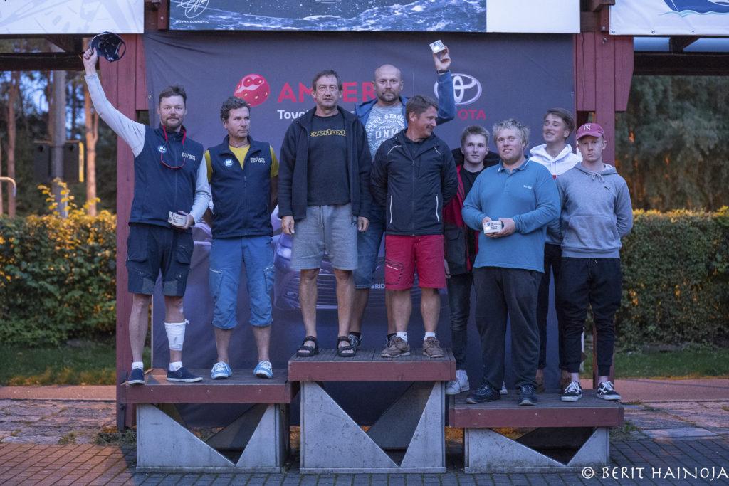 ORC IV grupi poodium - Holm-Kalevi Jahtklubi Kolmapäevaregatt 26.08.2020  FOTO: Berit Hainoja