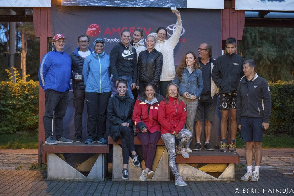 ORC III grupi poodium - Holm-Kalevi Jahtklubi Kolmapäevaregatt 26.08.2020  FOTO: Berit Hainoja