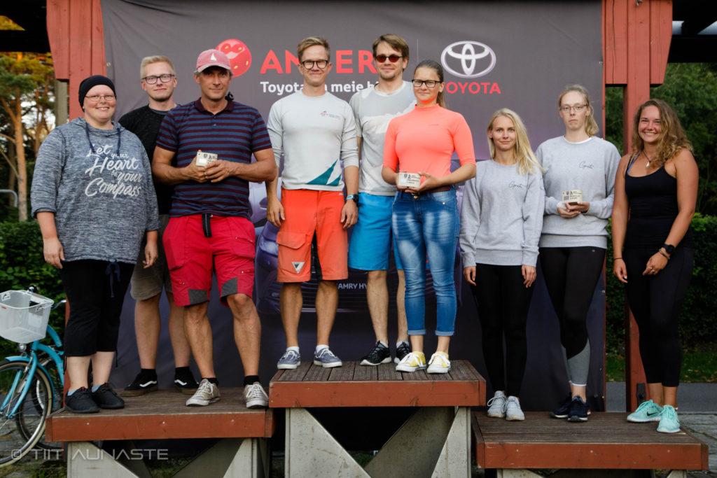 Folkboot klassi poodium - 9. HOLM-Kalevi Jahtklubi Kolmapäevaregatt 19.08.2020 - Foto Tiita Aunaste