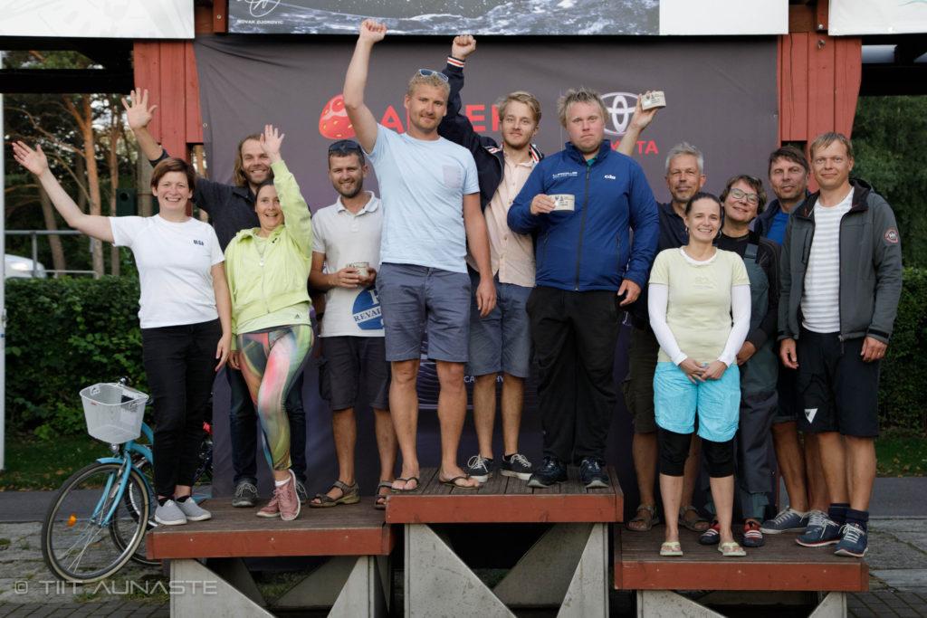 ORC IV grupi poodium - 9. HOLM-Kalevi Jahtklubi Kolmapäevaregatt 19.08.2020 - Foto Tiita Aunaste