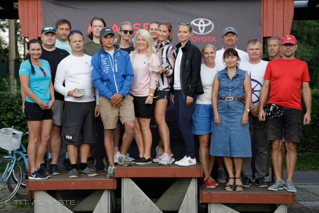 ORC III grupi poodium - 9. HOLM-Kalevi Jahtklubi Kolmapäevaregatt 19.08.2020 - Foto Tiita Aunaste
