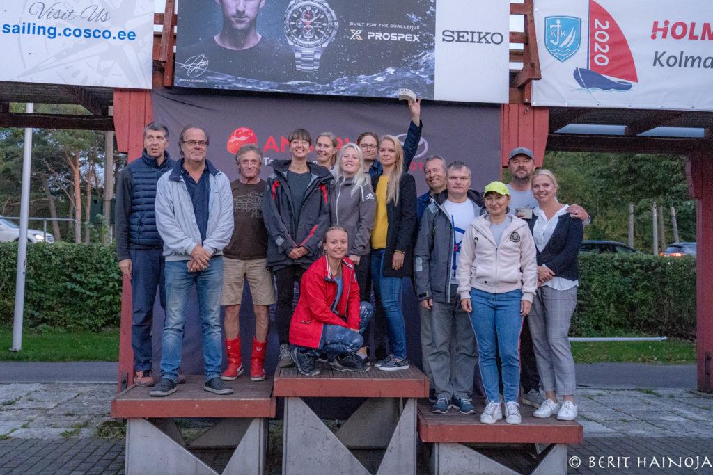 ORC III grupi poodium - Holm-Kalevi Jahtklubi Kolmapäevaregatt 23.09.2020 FOTO: Berit Hainoja