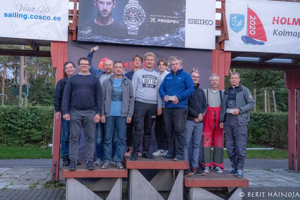 ORC IV grupi poodium - Holm-Kalevi Jahtklubi Kolmapäevaregatt 23.09.2020 FOTO: Berit Hainoja
