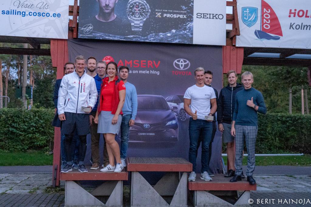ORC I grupi poodium - Holm-Kalevi Jahtklubi Kolmapäevaregatt 23.09.2020 FOTO: Berit Hainoja