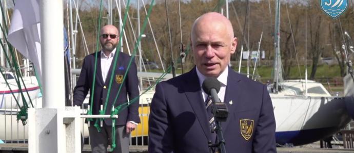 Kalevi Jahtklubi hooaja avamine 1. mail 2020 - Kommodoor Kalev Vapper ja klubiülem Lauri Kurvits