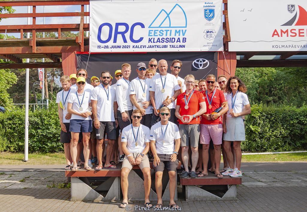 B klassi esikolmik - ORC Eesti Meistrivõistlused 2021 A ja B klassile 18.-20.06.2021 © Piret Salmistu